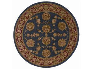 "Shaw Living Antiquities Kashmar Area Rug Ebony 7' 4"" Round 3X67474500"