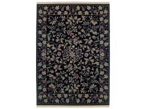 "Shaw Living Kathy Ireland Home Essentials Devonshire Area Rug Ebony 3' 10"" x 5' 7"" 3X72208500"