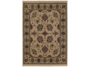 """Shaw Living Kathy Ireland Home Essentials French Countryside Area Rug Natural 3' 10"""" x 5' 7"""" 3X72229100"""