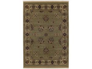 """Shaw Living Kathy Ireland Home Essentials French Countryside Area Rug Celadon 3' 10"""" x 5' 7"""" 3X72229330"""