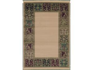 "Shaw Living Kathy Ireland Home Essentials Buckingham Border Area Rug Natural 5' 5"" x 7' 10"" 3X72320100"