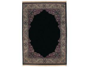 "Shaw Living Kathy Ireland Home Essentials Manor Border Area Rug Ebony 5' 5"" x 7' 10"" 3X72321500"