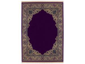 "Shaw Living Kathy Ireland Home Essentials Manor Border Area Rug Ruby 5' 5"" x 7' 10"" 3X72321850"
