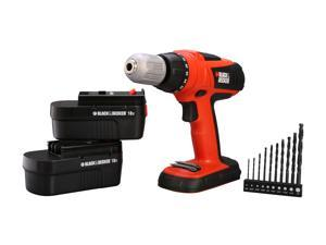 Black & Decker HPD18AK-2 18V High Performance Drill with 10 Accessories