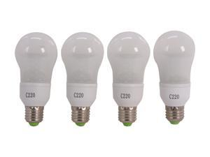 MiracleLED 605065-4 60 Watt Equivalent 4 Pack Frosted Cool White LED Light Bulb