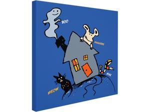 Trademark Fine Art Carla Martell 'Halloween House' Canvas Art