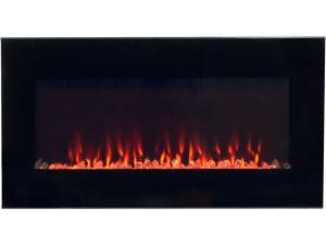 Northwest LED Fire and Ice Electric Fireplace Heater with Remote - 36 Inch
