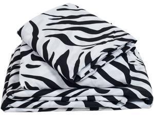 Lavish Home Series 1200 4 Piece Full Sheet Set - Zebra