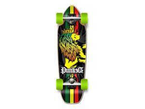 """Complete Longboard Mini Cruiser/ Banana Cruiser Skateboard 27"""" X 8"""" - RASTA"""