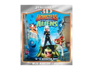 Monsters vs. Aliens (3D Blu-ray + DVD + Blu-ray) Reese Witherspoon (voice), Rainn Wilson (voice), Hugh Laurie (voice), Will Arnett (voice), Seth Rogen (voice)