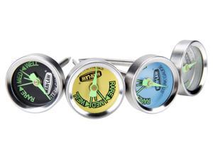 Man Law Steak Gauge thermometer with glow in the dark dial, set of 4