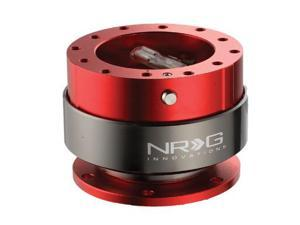 NRG  Quick Release  Gen 2.0- Srk-200RD (RED Body w/ Titanium Chrome Ring) NRG Innovations Steering Wheel Quick Release Unit ...
