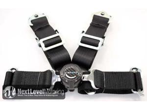 NRG 4 Point Seat Belt Harness / Cam Lock- Black SBH-4PCB