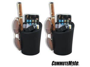 CommuteMate Cell Cup 2 Pack #1072 - Cell Phone Car Interior Organizer for iPhone, Android, Blackberry