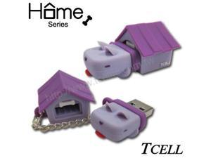 TCELL FDDGCGQGPOO Home Dog 8GB USB Flash Drive (Grape Purple)