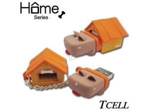 TCell Dog House 4GB USB Flash Drive (Yellow)