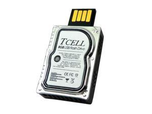 TCELL XS USB2.0 Flash Drive - 8GB (Silver)