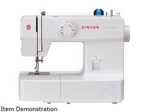 SINGER 1512 PROMISE II sewing machine with 13 built-in Stitches, white