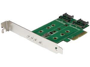 StarTech PEXM2SAT32N1 3Pt M.2 Ssd Adapter Card - 1X Pcie (Nvme) 2X Sata M.2 Pcie 3.0 - Interface Adapter - M.2 - M.2 Card / Sata 6Gb/S - 6 Gbps - Pcie 3.0