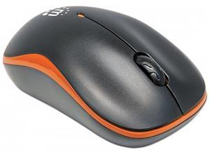 Manhattan - Success Wireless Optical Mouse / USB, Three Buttons with Scroll Wheel, 1000 dpi, Orange/Black