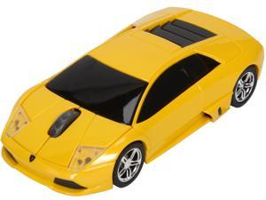 Road Mice HP-11LGMCYXA Lamborghini Murcielago Series Car Mouse - Yellow