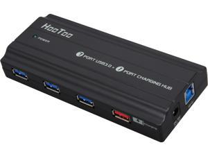 HooToo HT-UH004 SuperSpeed 8-Port USB3.0 Hub with a 5V/2A Charging Port