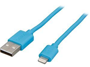 Belkin Lightning to USB ChargeSync Cable - Lightning/USB for iPad, iPod, iPhone, Notebook - 4 ft - 1 x Type A Male USB - 1 x Lightning Male Proprietary Connector - MFI - Blue