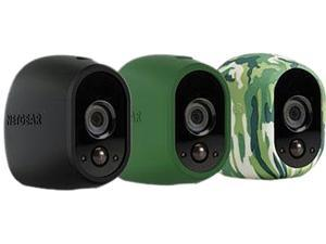 Netgear Arlo Replaceable Multi-colored Silicone Skins (Black, Green, and Camouflage) - VMA1200-10000S