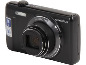 OLYMPUS VR-370 V105110BU000 Black 16 Megapixel 12X Optical Zoom 24mm Wide Angle Digital Camera