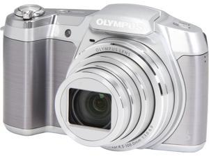 Olympus SZ-16 iHS V102100SU000 Silver 16 MP 25mm Wide Angle Digital Camera HDTV Output