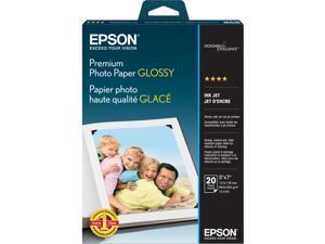 """Epson S041464 Photo Paper 5"""" x 7"""" - High Gloss - 92 Brightness - 20 Sheet - White"""