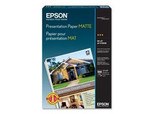 Epson S041069 Matte Presentation Paper, 27 lbs., Matte, 13 x 19, 100 Sheets/Pack
