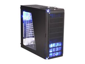 XCLIO Nighthawk Black Finish Computer Case With Side Panel Window