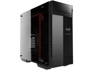 IN WIN 509 ROG Black/Red SECC / Tempered Glass ATX Full Tower Computer Case ATX PS2 / EPS 12V Power Supply