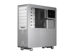 LIAN LI PC-V2000APLUSII W Silver Computer Case With Side Panel Window