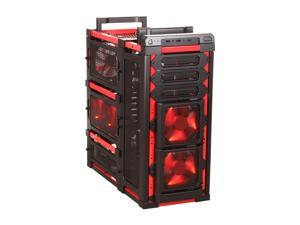 Antec Lanboy air Red Black / Red Steel / Plastic ATX Mid Tower Computer Modular Case