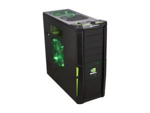Thermaltake NVIDIA Edition Black and Green Lining Computer Case With Side Panel Window