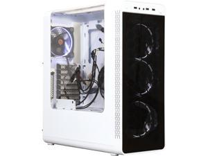 Thermaltake View 27 Snow ATX Gull Wing Window Tt LCS Certified Gaming Mid Tower Computer Case with 4 x 120mm White Riing Fan CA-1G7-00M6WN-WT