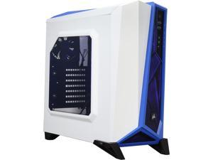 Corsair Carbide Series CC-9011093-WW White/Blue SPEC-ALPHA Mid-Tower Gaming Case ATX Power Supply