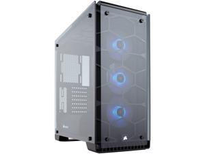 Corsair Crystal Series 570X RGB CC-9011098-WW Aluminum / Tempered Glass ATX Mid Tower Cases (Computer Cases - ATX Form)