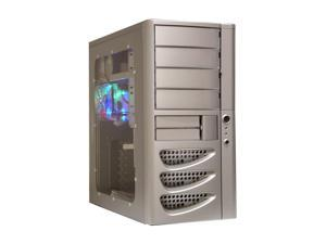 APEVIA X-Sonic ATXA4KW-AL/350 Silver Computer Case With Side Panel Window