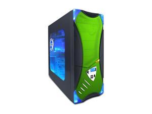APEVIA X-Plorer ATXB8KLW-GN Black/Green Computer Case With Side Panel Window