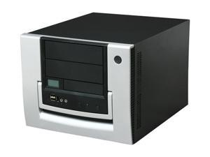 APEVIA X-QPACK-NW-AL/420 Black/ Silver Aluminum MicroATX Desktop Computer Case 420W Power Supply