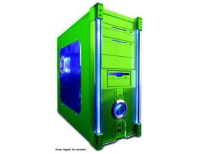 APEVIA X-DISCOVERY-GN Green Computer Case With Side Panel Window
