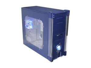 APEVIA X-DISCOVERY-BL Blue Computer Case With Side Panel Window