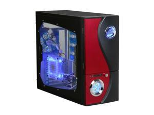 APEVIA X-TELSTAR-JR G-Type X-TSJGT-RD Red Computer Case With Side Panel Window
