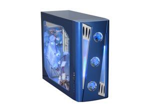 APEVIA X-CRUISER2-BL Blue Computer Case With Side Panel Window