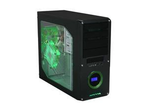 APEVIA X-DREAMER3-GN Black / Green Computer Case With Side Panel Window