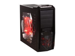 APEVIA X-TROOPER Series X-TRP-RD Black/Red Computer Case With Side Panel Window