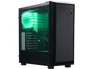 APEVIA X-MIRAGE X-MIRAGE-GN Black / Green SECC Black Metal Chassis, ABS Plastic Front Panel ATX Mid Tower Computer Case